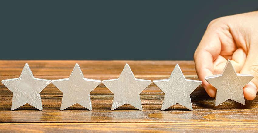 cinco-estrelas-de-indicador-de-qualidade